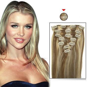Пряди на заколках на короткие волосы